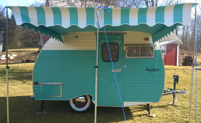 Vintage Trailer Awnings National Serro Scotty Organization